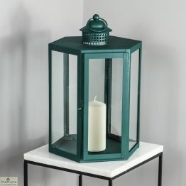 Green Candle Holder Glass Lantern_1