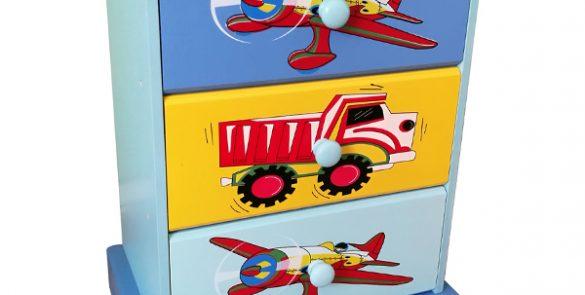 Transport 3 Drawer Bedside Unit