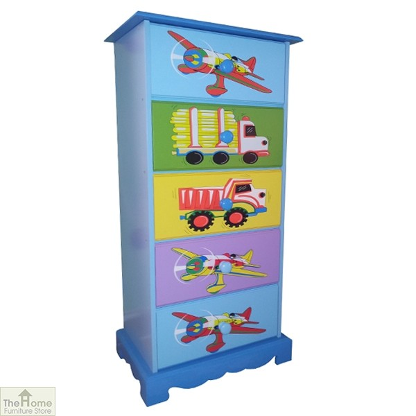 Transport 5 Drawer Tallboy