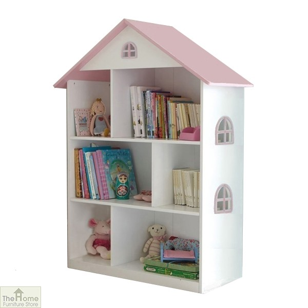 White Dollhouse Bookshelf