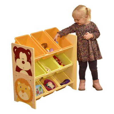 Jungle Book 9 Bin Storage Shelf_1
