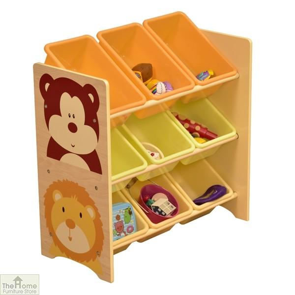 Jungle 9 Bin Storage Shelf