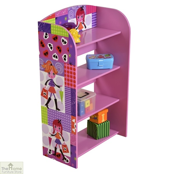 Fashion Girl 4 Tier Bookshelf