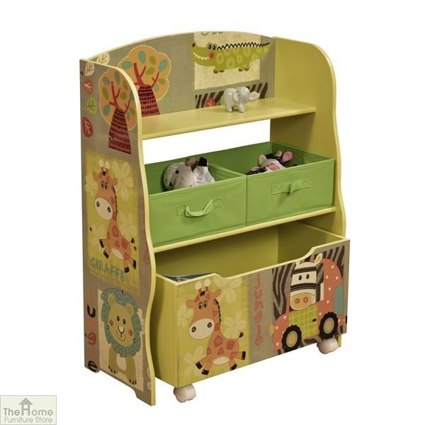 Safari Fabric Bin Storage Shelf