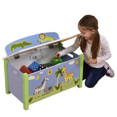 Safari Blue Big Toy Box_1
