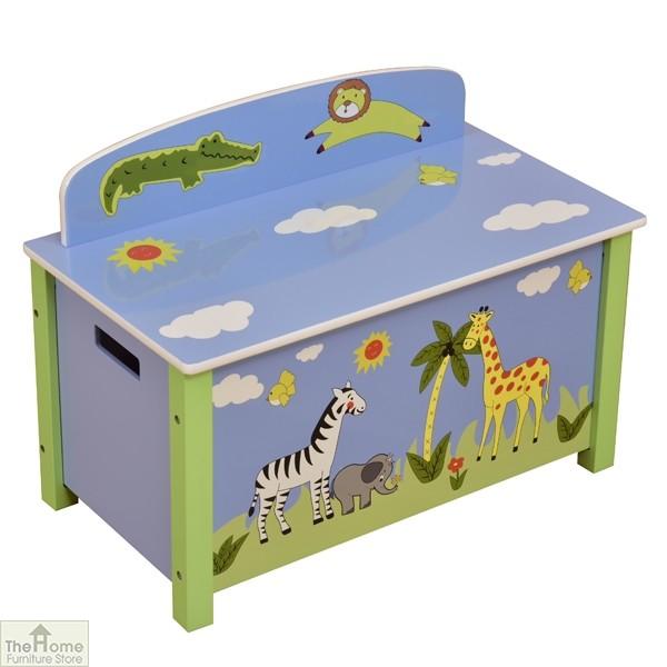 Safari Blue Big Toy Box