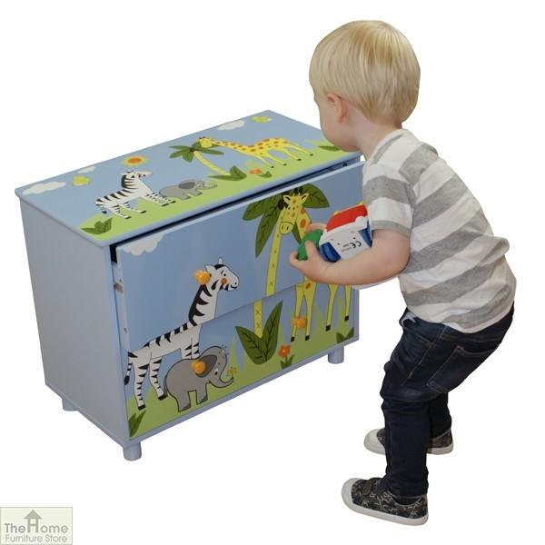 Safari Blue 2 Drawer Cabinet