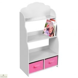 White Bookshelf Storage Unit