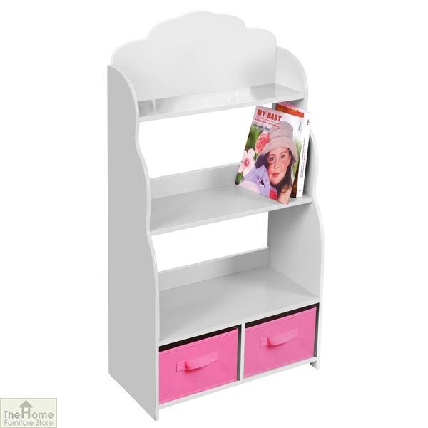 White Bookshelf Storage Unit