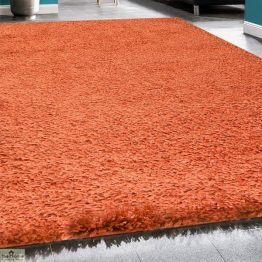 Terracotta Plain Shaggy Rug _6
