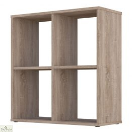 Oak 4 Cube Shelving Unit