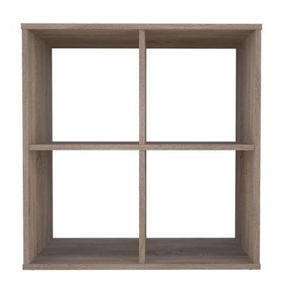 Oak 4 Cube Shelving Unit_1