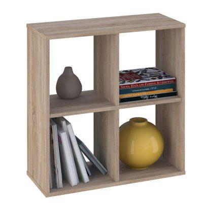 Oak 4 Cube Shelving Unit_2