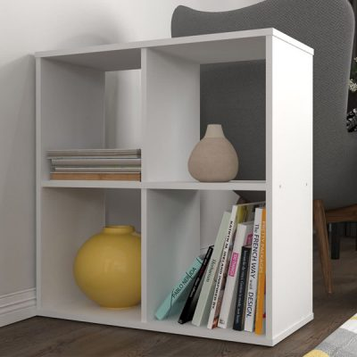 White 4 Cube Shelving Unit_3