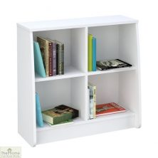 White Low Bookcase