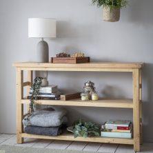 Brookville Pine 2 Shelf Bookcase