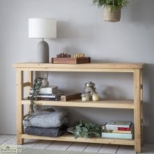 Brookville Pine 2 Shelf Bookcase