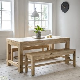 Brookville Pine Bench Dining Set_1