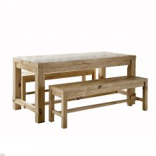 Brookville Pine Bench Dining Set