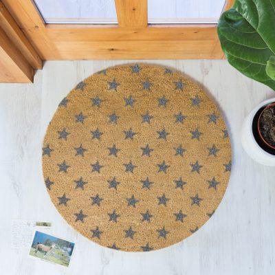 Grey Star Design Circle Doormat_1