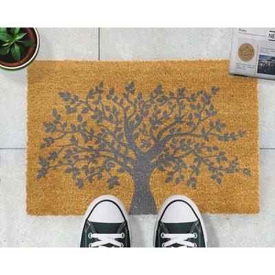 Grey Tree of Life Doormat_1