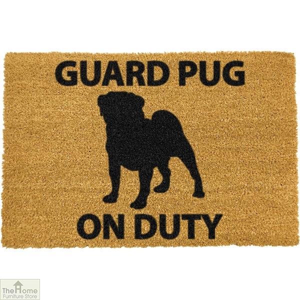 Guard Pug Dog Doormat