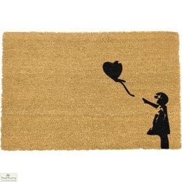 Girl With Balloon Graffiti Doormat