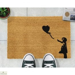 Girl With Balloon Graffiti Doormat_1