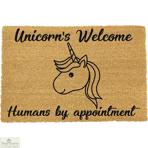 Unicorns Welcome Humans By Appointment Doormat