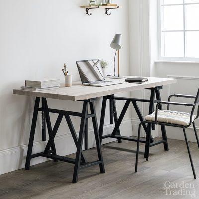 Wooden Trestle Desk_1