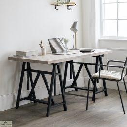 Wooden Trestle Desk
