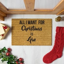 All I want for Christmas is Gin Doormat_1