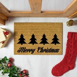 Merry Christmas Greeting Doormat_1