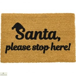 Santa Please Stop Here Christmas Doormat
