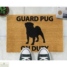 Guard Pug Dog Doormat