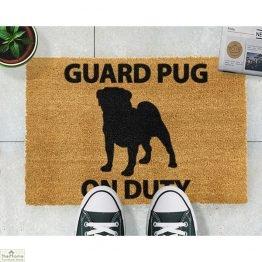 Guard Pug Dog Doormat_1
