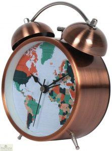 Map Design Traditional Alarm Clock