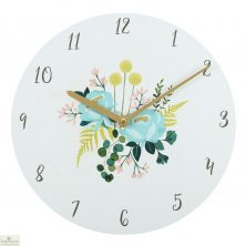 Botanical Floral Design Wall Clock