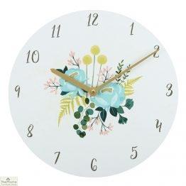 Botanical Floral Design Wall Clock