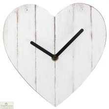 Heart Shaped Shabby Chic Wall Clock
