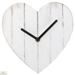 Heart Shaped Shabby Chic Wall Clock