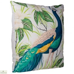 Peacock Floral Design Square Cushion_1