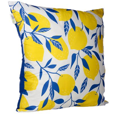 Lemon Design Square Cushion_1