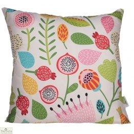 Autumn Floral Design Square Cushion
