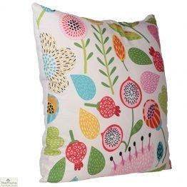 Autumn Floral Design Square Cushion_1