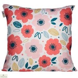 Poppy Flower Design Square Cushion