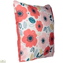 Poppy Flower Design Square Cushion_1