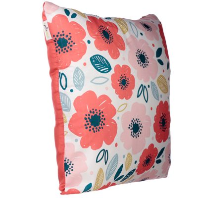 Poppy Flower Design Square Cushion_1