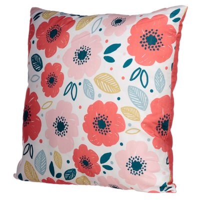 Poppy Flower Design Square Cushion_3