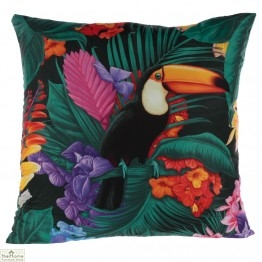 Toucan Tropical Design Square Cushion